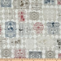 ArtCo Woven Whisky Labels Jacquard Multi
