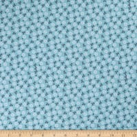 ArtCo Cotton Poplin Small Forties Floral Mint Grey