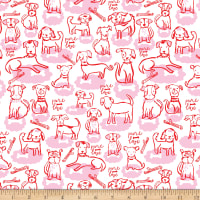 FreeSpirit Woofs and Wags Bone Clouds Pink