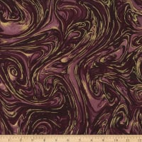 Michael Miller Marble with Metallic Currant