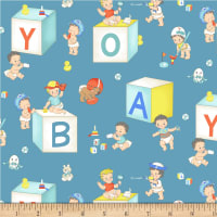 Michael Miller Baby Boomers Baby Boys Teal