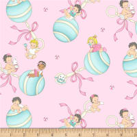 Michael Miller Baby Boomers Baby Girls Pink
