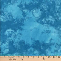Textile Creations Sunset Key Flannel Tie Dye Tonal Turquoise