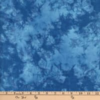 Textile Creations Sunset Key Flannel Tie Dye Tonal Blue