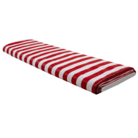 Poly Cotton Broadcloth Prints Stripes (Bolt 15 Yards) Red/White