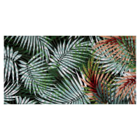 Fabtrends ITY Stretch Knit Tropical Palm Leaves Green/Rust