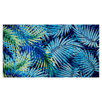 Fabtrends ITY Knit Tropical Palm Leaves Blue