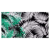 Fabtrends ITY Knit Tropical Palm Leaves Green/White