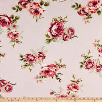 Fabtrends Vienna Knit Rose Floral Blush Berry/Olive
