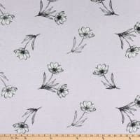 Fabtrends Vienna Knit Dispersed Floral Lilac/Charcoal/Ivory