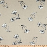 Fabtrends Vienna Knit Dispersed Floral Taupe/Charcoal/Ivory