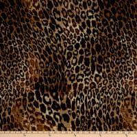 Fabtrends DTY Stretch Knit Animal Leopard Brown