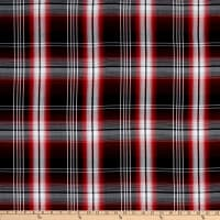 Fabtrends Yarn Dye Rayon Challis Plaid Red/Black