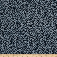 Fabtrends DTY Stretch Knit Animal Cheetah Denim