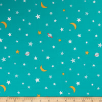 Michael Miller Super Fred Galactic Glow In The Dark Teal