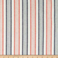 Striped Cotton Shirting Coral