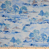 Waverly Imagery Toile Slub Duck Sky
