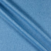 Linen Cotton Blend Twill Cool Blue