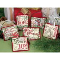 """Dimensions Counted Cross Stitch Kit Up To 4""""-Christmas Sayings Ornaments (14 Count)"""