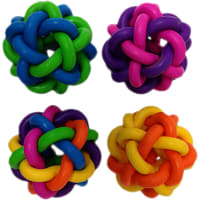 """Multipet Nobbly Wobble Interwoven Ball With Bell 2pk 1.75""""Ea"""