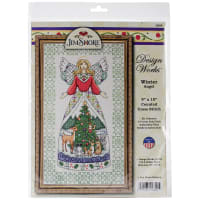 "Design Works Counted Cross Stitch Kit 9""X15""-Winter Angel by Jim Shore (14 Count)"