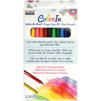 ColorIn Watercolor Pencil Set 12/Pkg-Assorted Colors