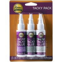 Aleene's Try Me Size Tacky Pack .66oz 3/Pkg-Fast Grab, Quick Dry & Clear Gel