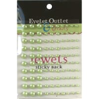 Eyelet Outlet Adhesive Pearls Multi-Size 100/Pkg-Green