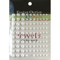 Eyelet Outlet Adhesive Pearls Multi-Size 100/Pkg-White