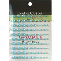 Eyelet Outlet Adhesive Pearls Multi-Size 100/Pkg-Blue