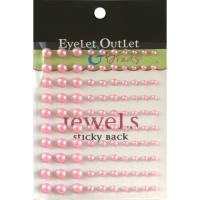 Eyelet Outlet Adhesive Pearls Multi-Size 100/Pkg-Pink