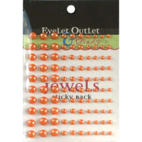 Eyelet Outlet Adhesive Pearls Multi-Size 100/Pkg-Orange