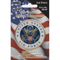 "Pioneer Military Self-Adhesive Metal Medallion 2""-Air Force"
