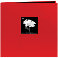 "Pioneer Book Cloth Cover Post Bound Album 12""X12""-Red"