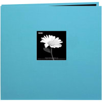 "Pioneer Book Cloth Cover Post Bound Album 8""X8""-Turquoise Blue"