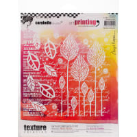 Carabelle Studio Art Printing Square Rubber Texture Plate-Abstract Flowers