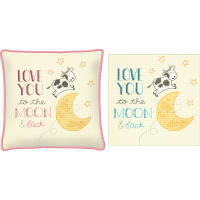 """Dimensions/Cathy Heck Counted Cross Stitch Kit 10""""X10""""-To The Moon (14 Count)"""