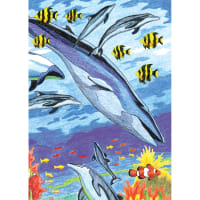 "Mini Color Pencil By Number Kit 5""X7""-Under The Sea"