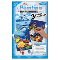"""Junior Small Paint By Number Kit 8.75""""X11.75"""" 3/Pkg-Sea Life"""