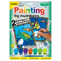 """My First Paint By Number Kit 8.75""""X11.375"""" 2/Pkg-Sea Turtle & Fish"""