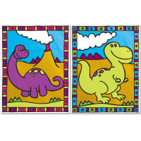 """My First Paint By Number Kit 8.75""""X11.375"""" 2/Pkg-Dinosaurs & Volcano"""
