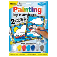 """My First Paint By Number Kit 8.75""""X11.375"""" 2/Pkg-Airplane & Helicopter"""