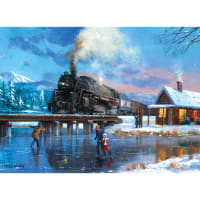 """Paint By Number Kit 15.375""""X11.25""""-Winter Magic"""