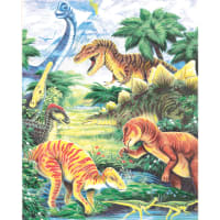 """Color Pencil By Number Kit 8.75""""X11.75""""-Dinosaur Fun"""