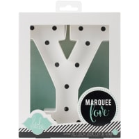 "Heidi Swapp Marquee Love Letters, Numbers & Shapes 8.5""-Y"