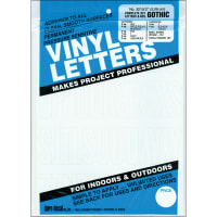 """Permanent Adhesive Vinyl Letters & Numbers 2"""" 167/Pkg-White"""