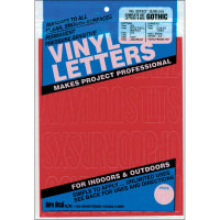 """Permanent Adhesive Vinyl Letters & Numbers 2"""" 167/Pkg-Red"""