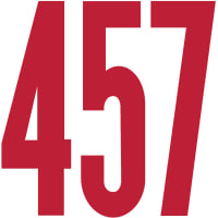"Permanent Adhesive Vinyl Numbers 6"" 48/Pkg-Red"