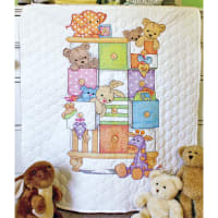 """Dimensions/Baby Hugs Quilt Stamped Cross Stitch Kit 34""""X43""""-Baby Drawers"""