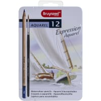 Bruynzeel Expression Watercolour Pencil Set W/Tin 12/Pkg